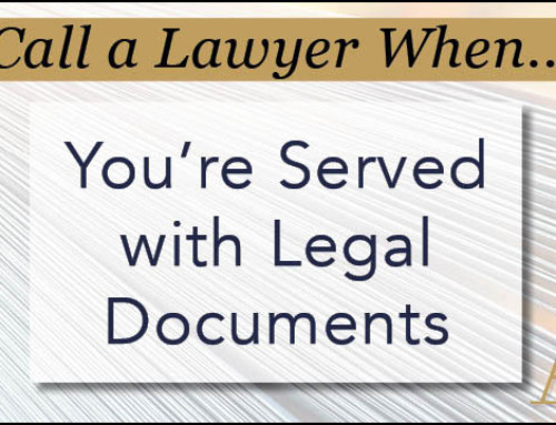 Call a Lawyer When…You Have Been Subpoenaed To Produce Documents Or Other Evidence